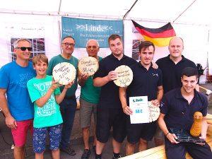 Sägewettbewerb am 20.7.2014 beim Tag der offenen Tür der Freiwilligen Feuerwehr Stuttgart Heumaden