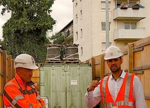 Stuttgart 21 Zwischenangriff Ulmer Straße Stuttgart Wangen Baustellenbesichtigung 15.7.2015