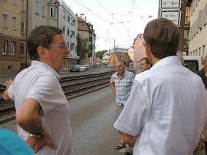 Stadtbezirksrundgang durch Wangen mit Stuttgarts Bürgermeister Werner Wölfle 15.7.2015 Stuttgart Wangen
