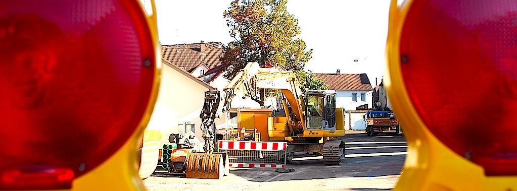 Stuttgart Wangen Platz hinter der Kelter Ulmer Straße 334 Baustelle 21.9.2015