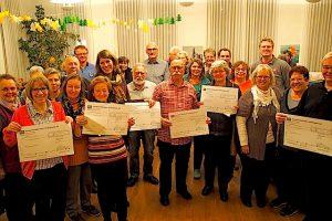 23. Hobbykünstler-Weihnachtsmarkt Stuttgart Wangen Spendenübergabe 7.12.2015