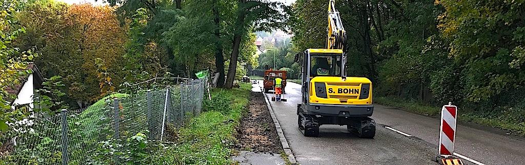 Filderauffahrt Stuttgart Hedelfingen Baustelle 18.10.2016