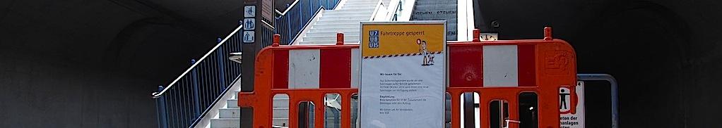 Rolltreppe Stadtbahnhaltestelle Stuttgart Sillenbuch