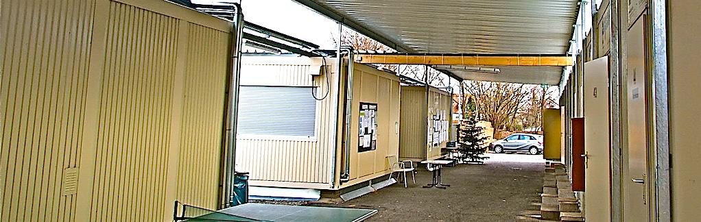 Containercamp für Flüchtlinge Ostfildern Scharnhausen