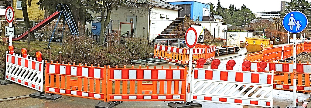 Schaltwerk-Baustelle Stuttgart Riedenberg Dattelweg