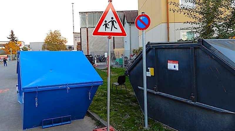 Parkverbot vor Viehwasen 32 Stuttgart Wangen
