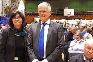 Einwohnerversammlung Stuttgart Wangen Dietrich mit Kuhn