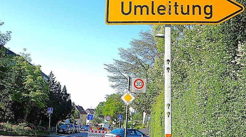 Umleitung Melonenstrasse