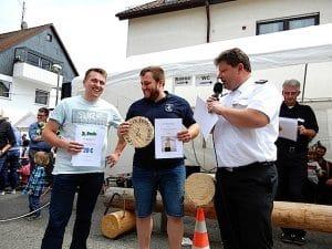 13. Sägewettbewerb Feuerwehr Stuttgart Heumaden 24.6.2018