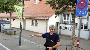 Markus Krautter am Taxistand vor der Kelter Stuttgart Wangen