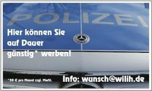 Polizeiauto Bild für Werbebanner