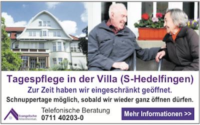 Angebot Tagespflege Ev. Altenheimat