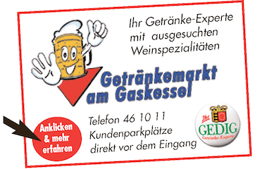 Banner Trefz Getraenkemarkt