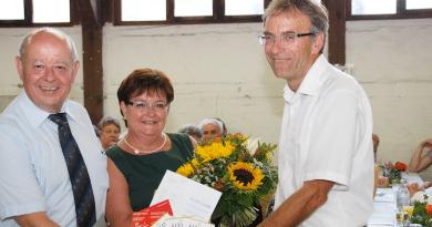 Hans-Peter Seiler und Bürgermeister Wölfle beim Abschied 2015