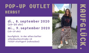 Anzeige Kaufglück für Pop Up Outlet