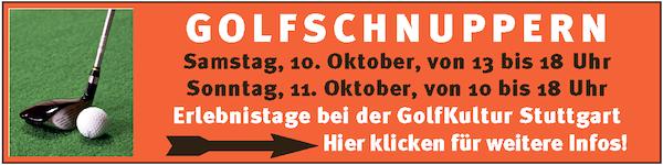Anzeige für Golf-Erlebnistage der GolfKultur Stuttgart