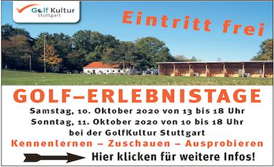 Golf-Erlebnistage der GolfKultur Anzeige