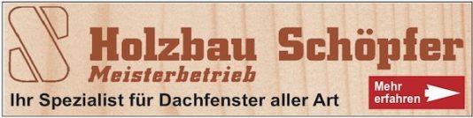 Anzeige der Firma Holzbau Schöpfer