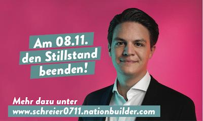 Anzeige von Marian Schreier zur OB-Wahl