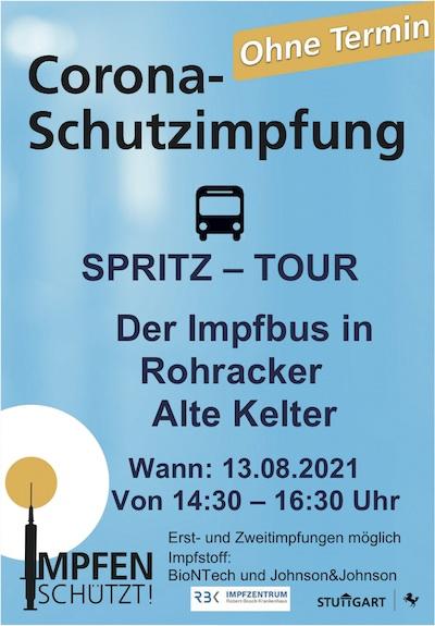 Impfbus in Rohracker am 13.8.2021